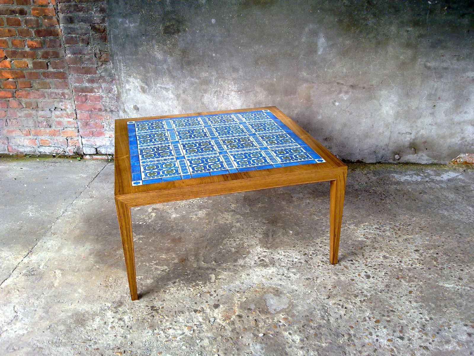 tiled coffee tableseverin hansen jr. for royal copenhagen