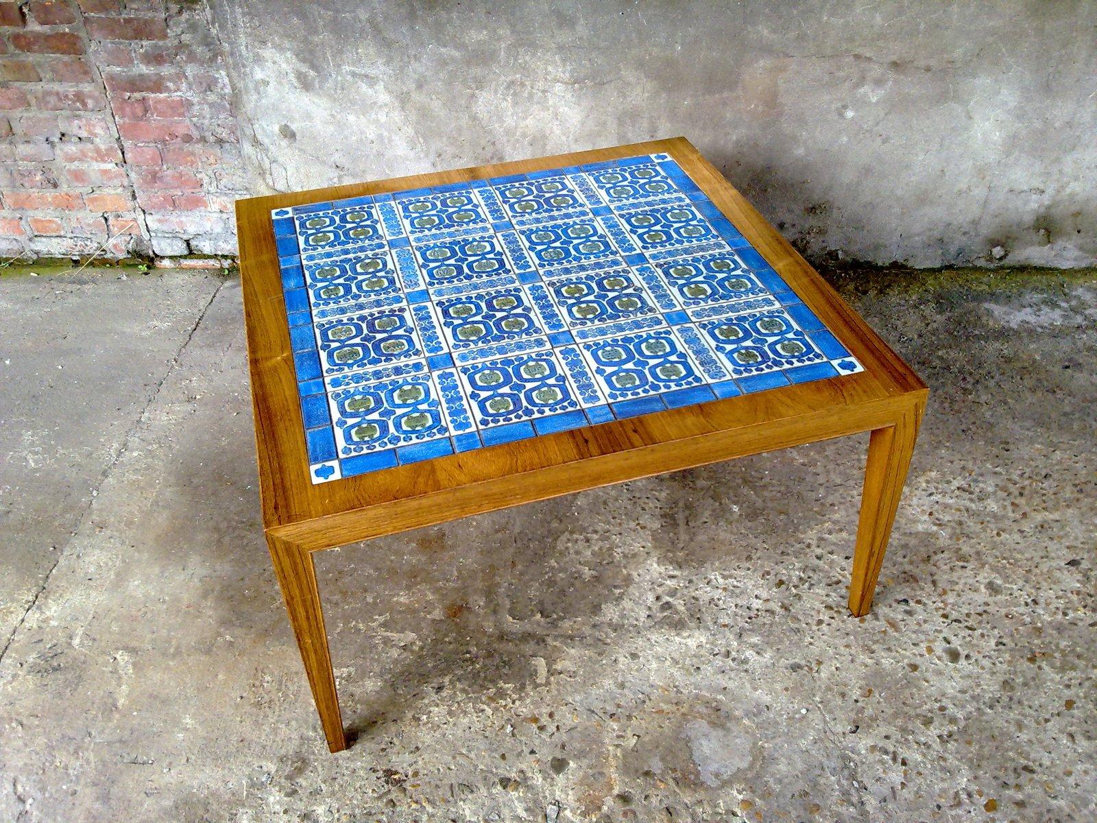 Tiled Coffee Table by Severin Hansen Jr for Royal Copenhagen