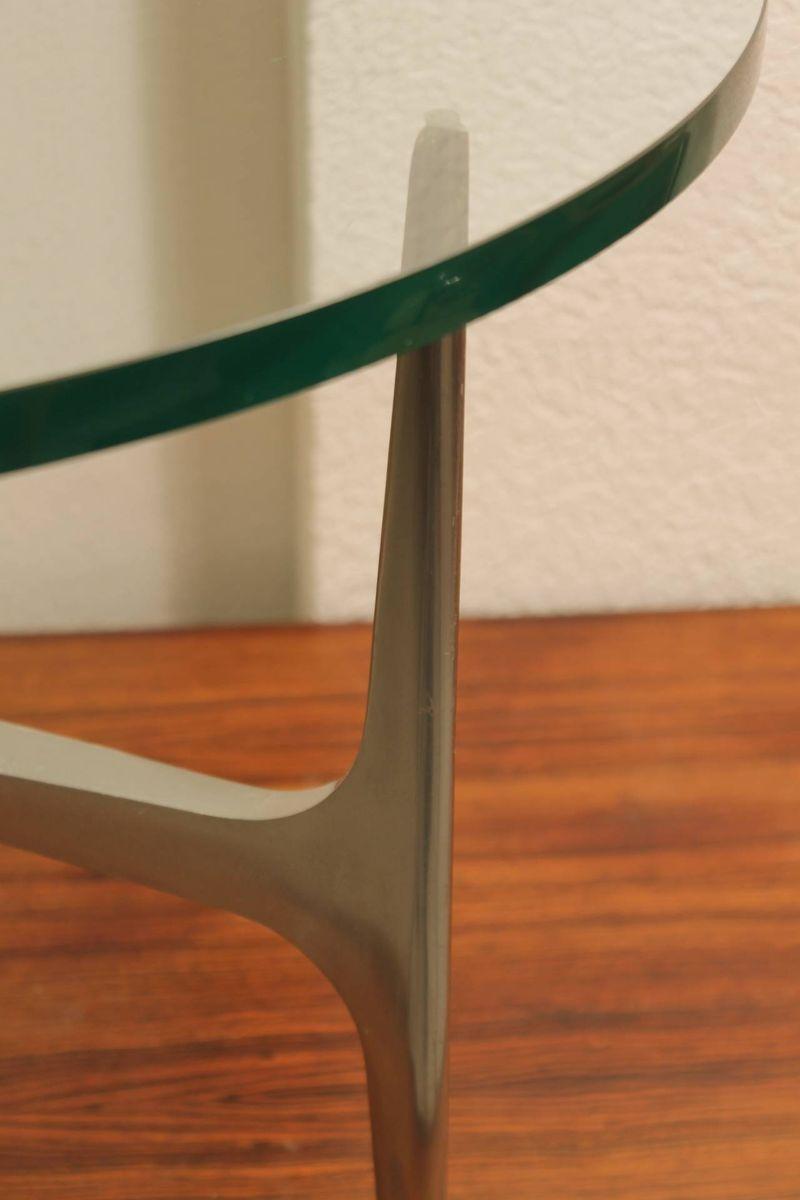Aluminium & Glas Couchtisch von Knut Hesterberg für Ronal
