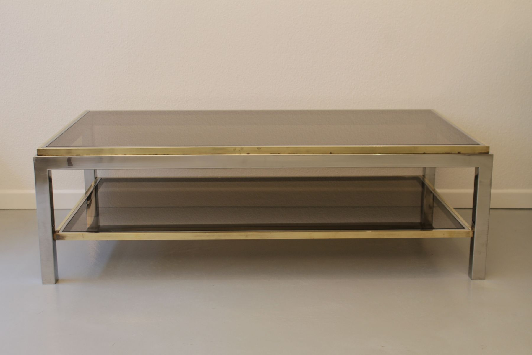 Flaminia coffee table by willy rizzo 1972 en vente sur pamono for Table willy rizzo