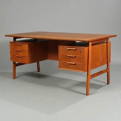 Floating teak desk by gunni omann for sale at pamono for Floating desk for sale