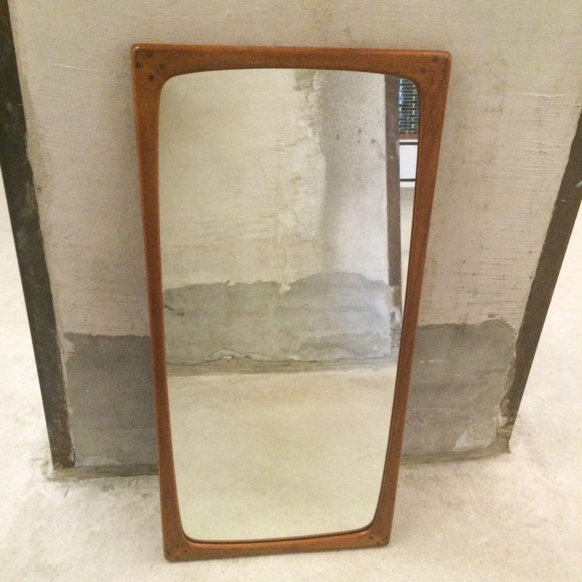 teak spiegel von aksel kjersgaard bei pamono kaufen. Black Bedroom Furniture Sets. Home Design Ideas