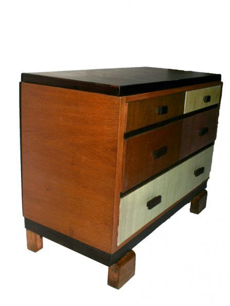 vintage art d co kommode bei pamono kaufen. Black Bedroom Furniture Sets. Home Design Ideas