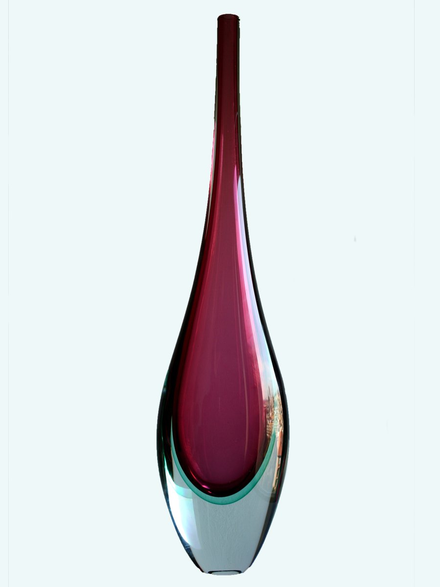 Purple Murano Glass Vase From Sommerso 1960s For Sale At Pamono
