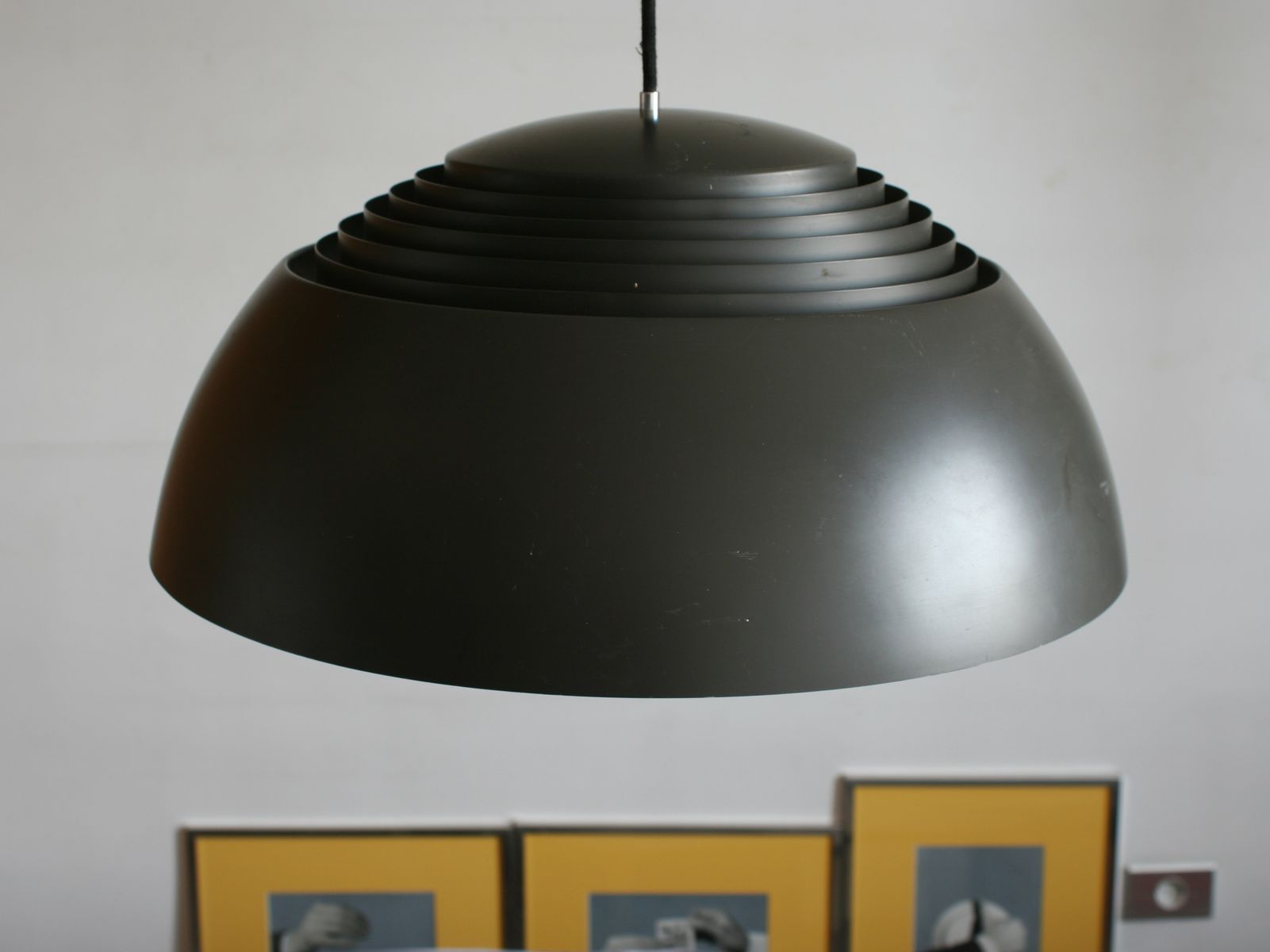 Mid century ceiling lamp by arne jacobsen for louis for Mid century ceiling lamp