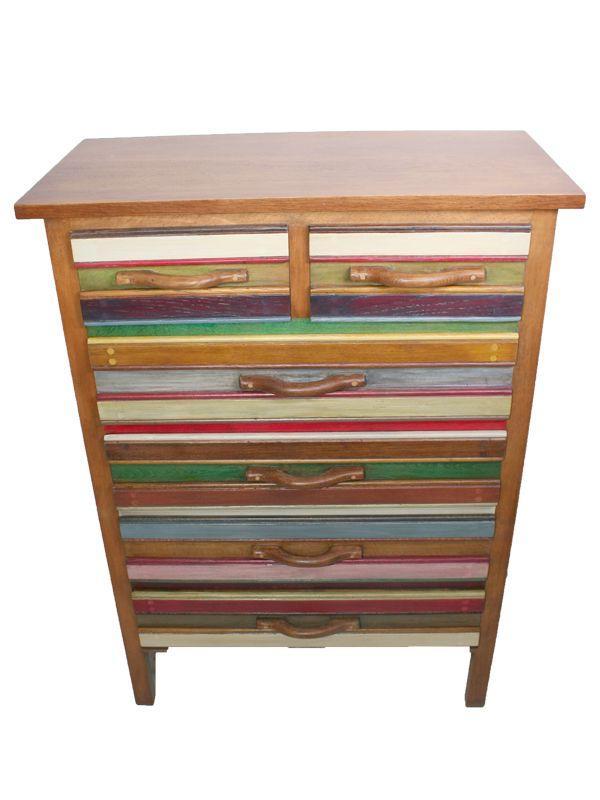 commode vintage multicolore en vente sur pamono. Black Bedroom Furniture Sets. Home Design Ideas