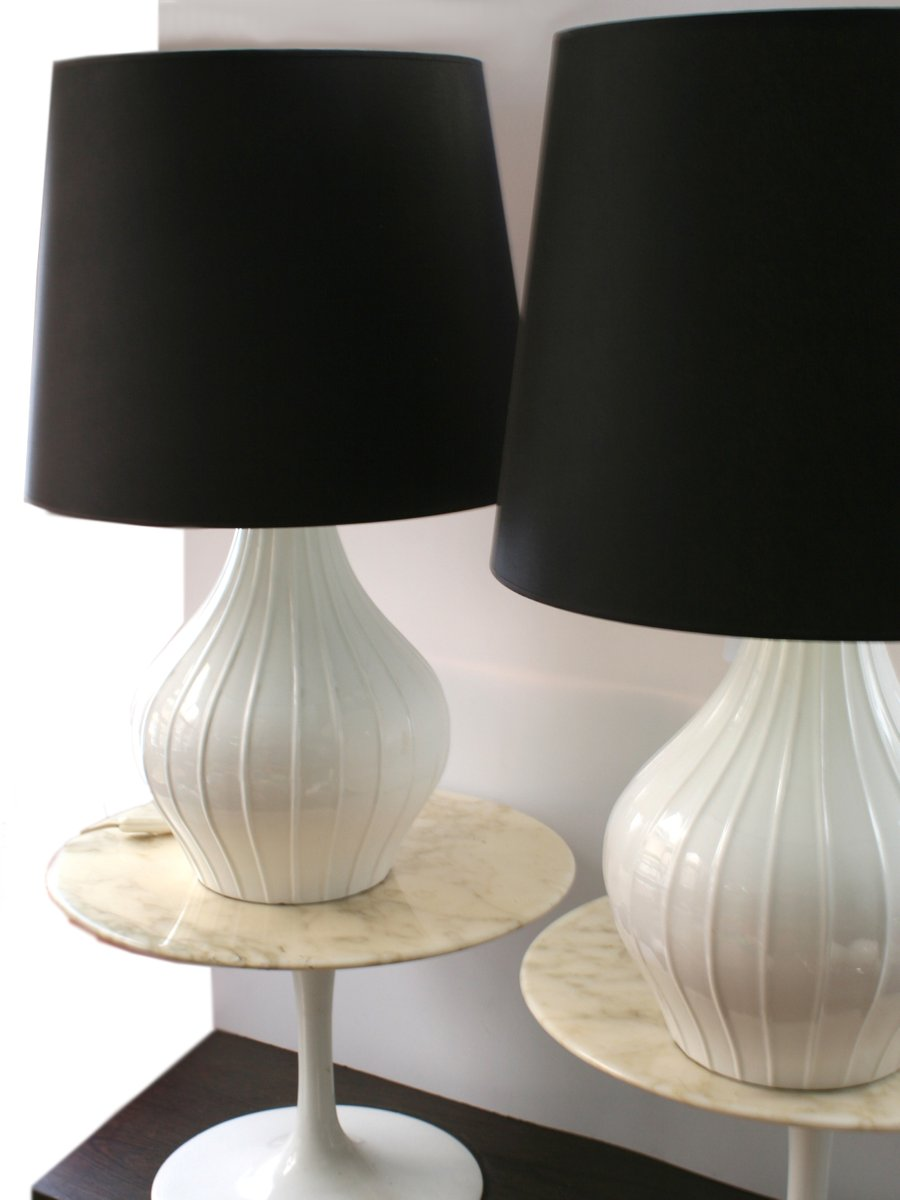 Vintage Ceramic Table Lamps, 1960s, Set Of 2