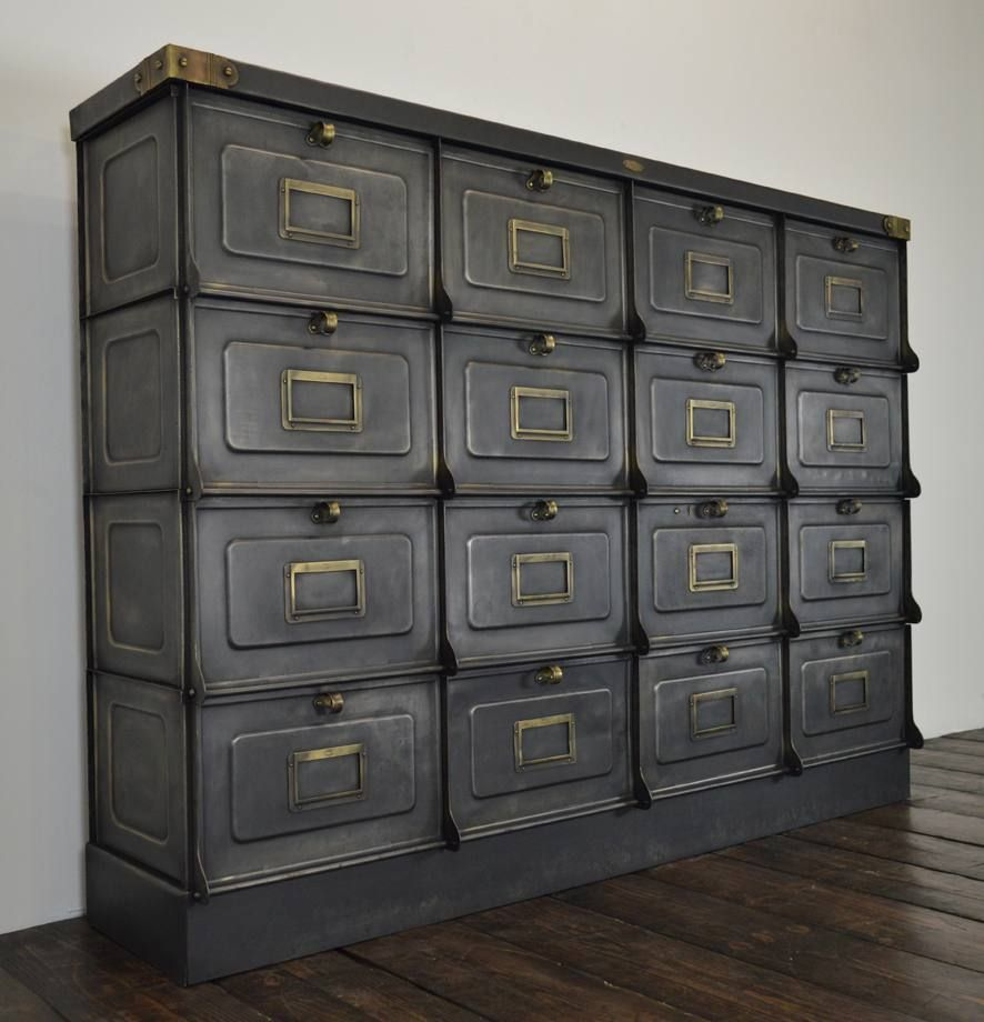 Industrial French Locker Cabinet From Strafor 1930 For