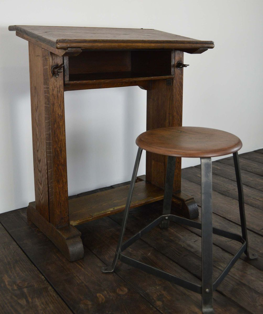 industrie schreibtisch von f ret 1900er bei pamono kaufen. Black Bedroom Furniture Sets. Home Design Ideas