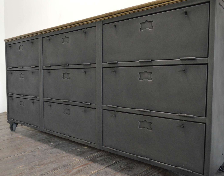 industrial steel sideboard for sale at pamono. Black Bedroom Furniture Sets. Home Design Ideas