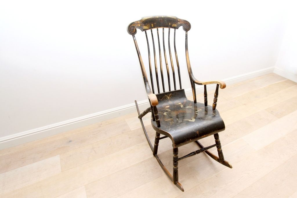Antique Scandinavian Rocking Chair 19th Century For Sale At Pamono