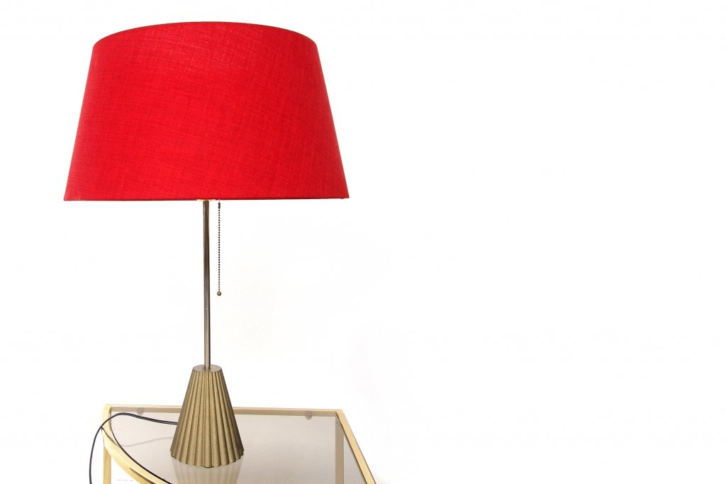 vintage red lamps by p ghyczy set of 2 for sale at pamono. Black Bedroom Furniture Sets. Home Design Ideas