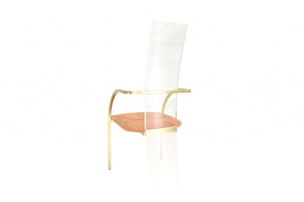 lucite chairs by maison jansen 1980s set of 8 for sale