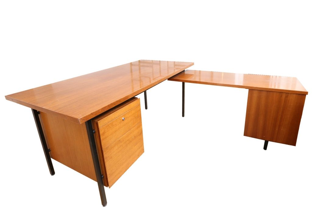 L Shaped Desk By Florence Knoll For Knoll 1950s For Sale