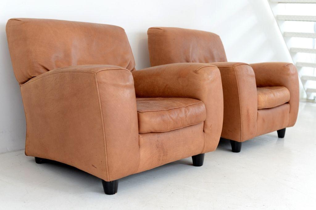 italienische sessel aus cognac leder von molinari 1970er 2er set bei pamono kaufen. Black Bedroom Furniture Sets. Home Design Ideas