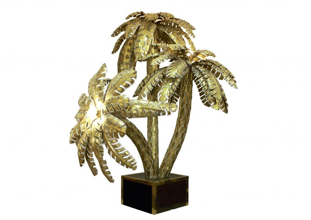 Mid Century Palmen Stehlampe 1960er Bei Pamono Kaufen