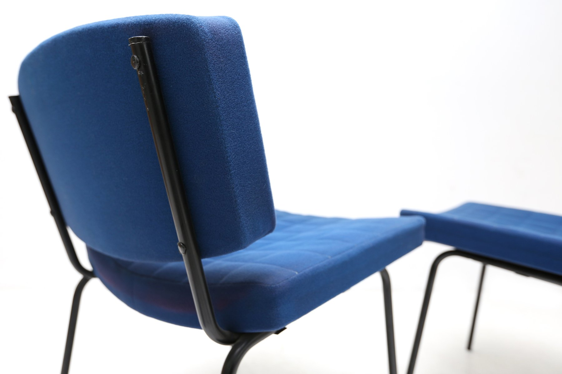 Royal Blue Chairs by Pierre Guariche for Meurop 1950s