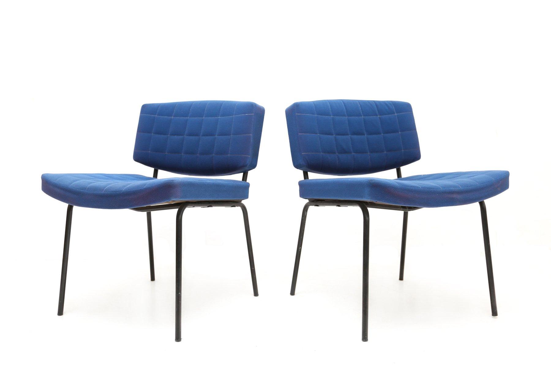 chaise royal bleue par pierre guariche pour meurop 1950. Black Bedroom Furniture Sets. Home Design Ideas