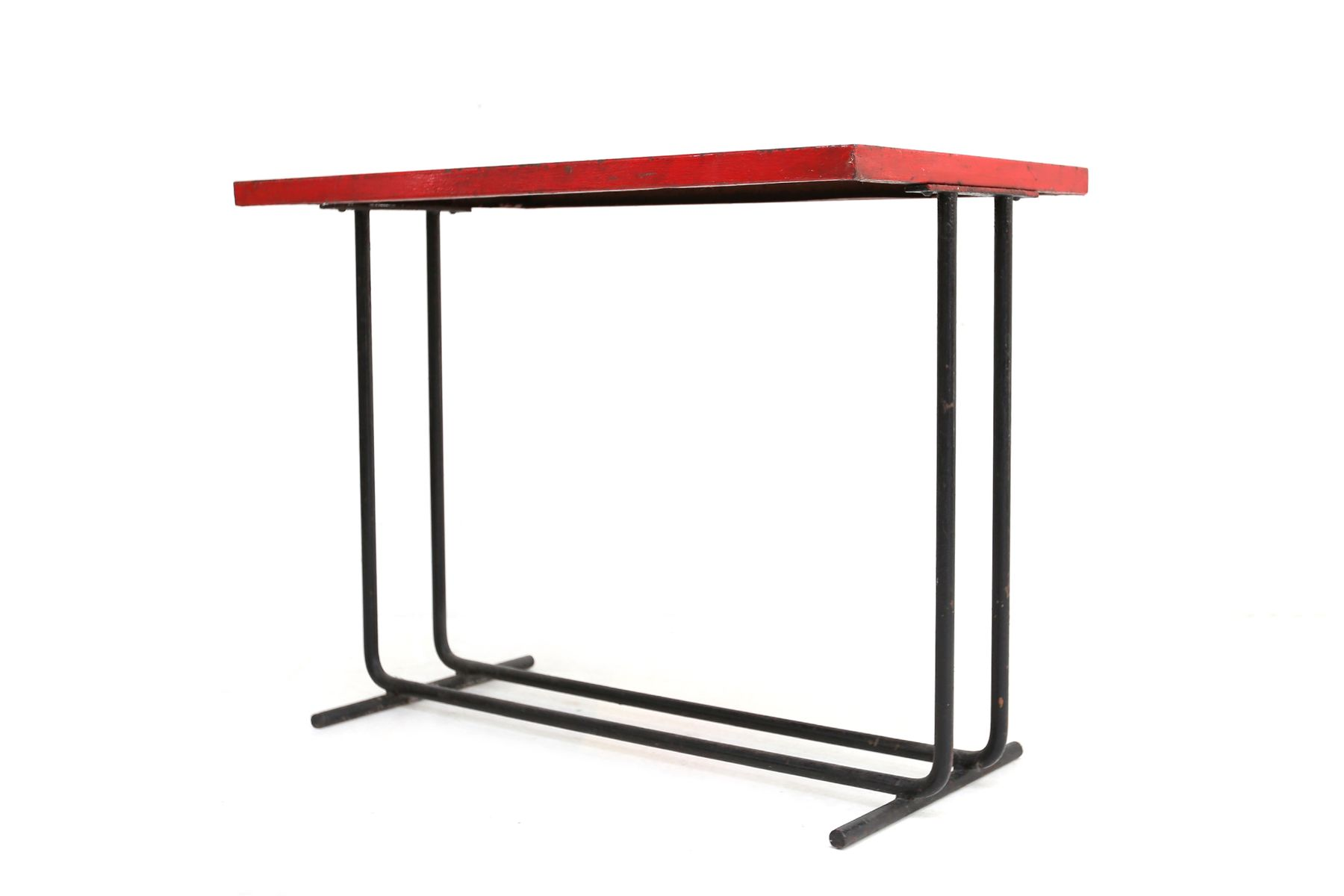 Vintage red industrial side table for sale at pamono for Red side table