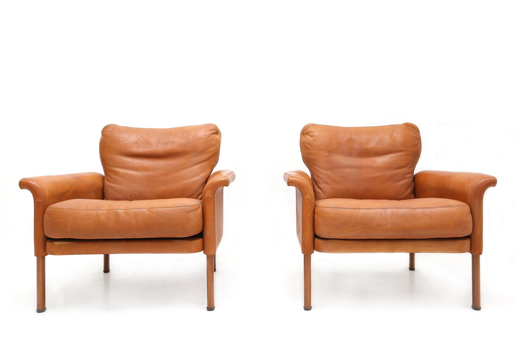 cognac ledersessel von wittmann 1960er 2er set bei. Black Bedroom Furniture Sets. Home Design Ideas