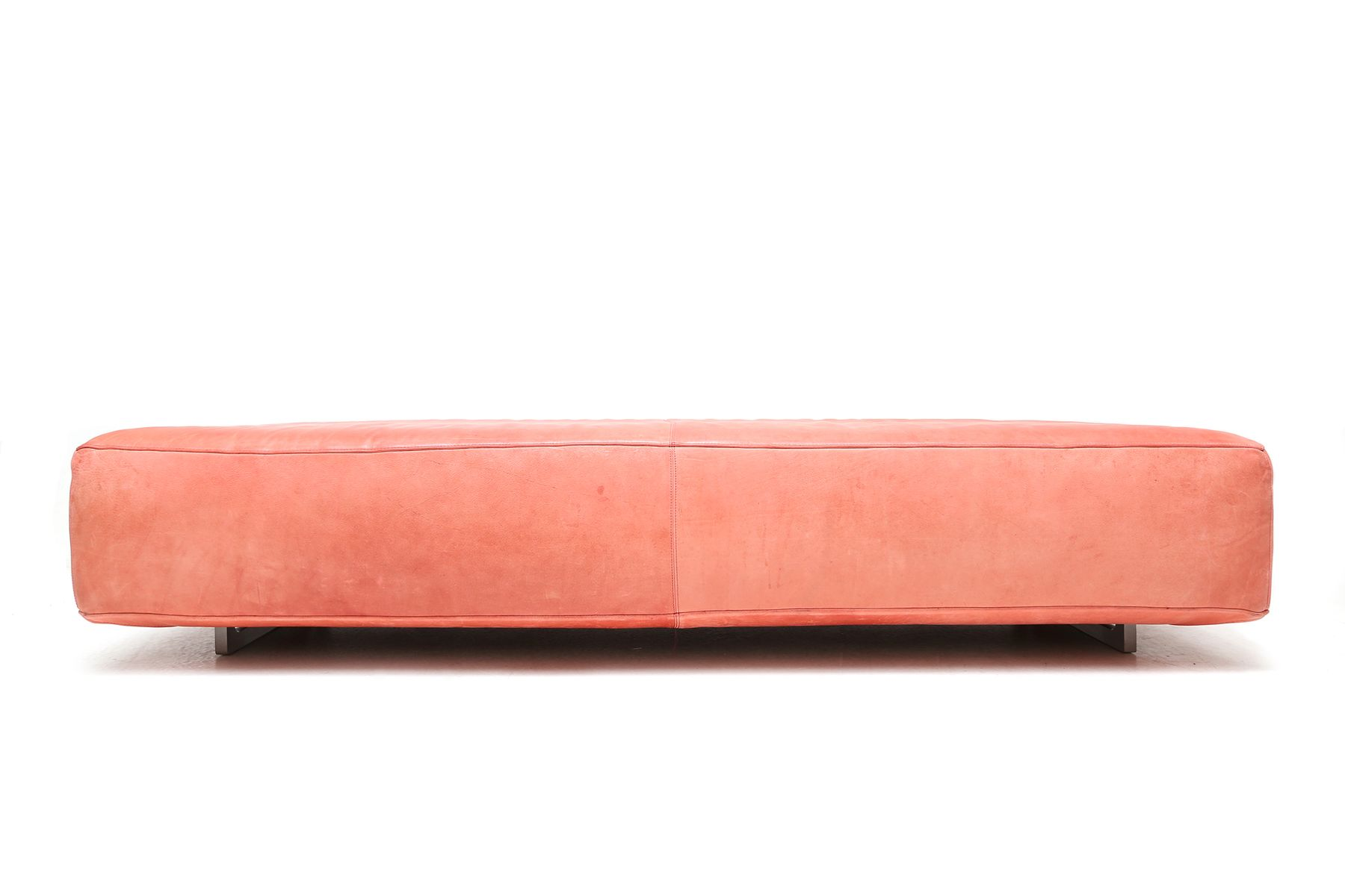 pinker italienischer leder ottomane von molinari bei. Black Bedroom Furniture Sets. Home Design Ideas