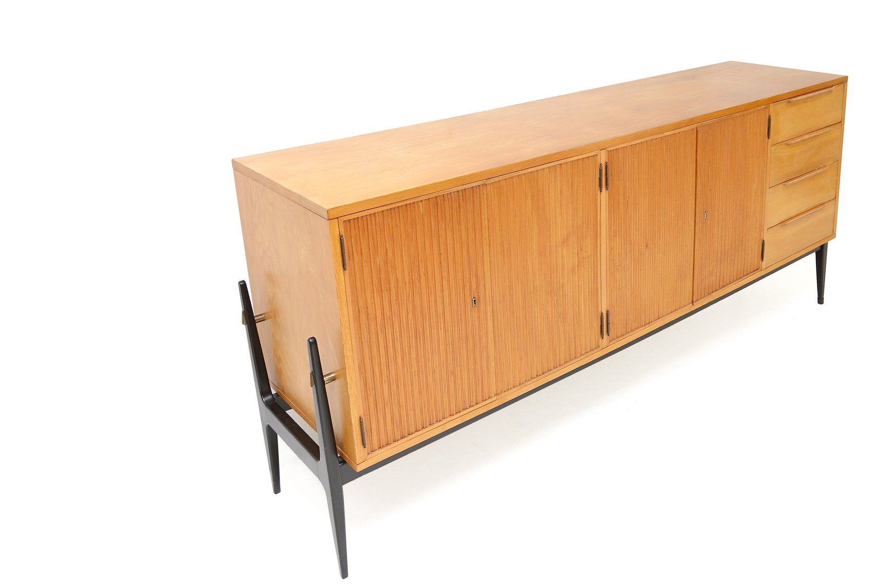 Wooden Side Boards ~ Belgian wooden sideboard for sale at pamono