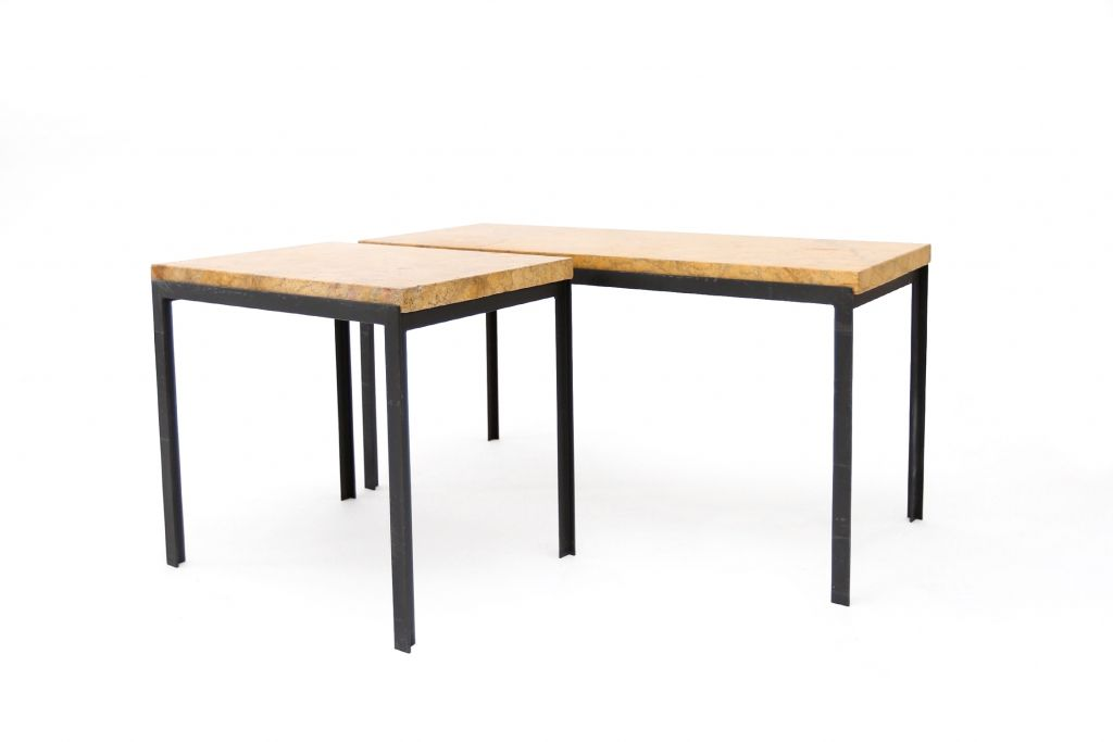tables d 39 appoint empire en marbre par florence knoll pour. Black Bedroom Furniture Sets. Home Design Ideas