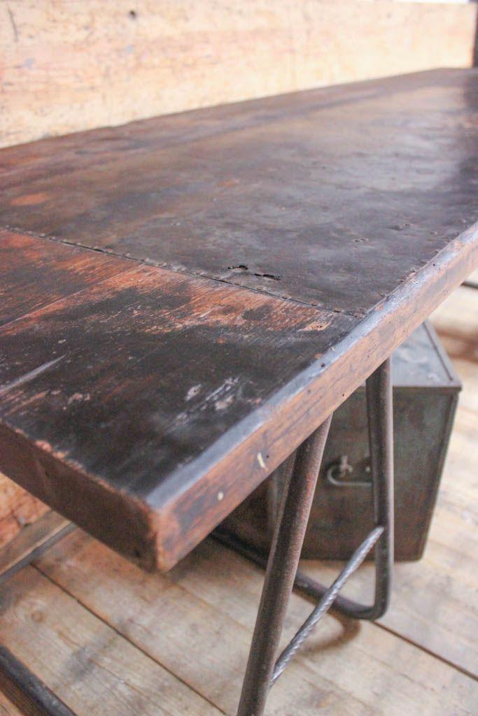 Vintage industrie tisch deutschland bei pamono kaufen for Tische deutschland