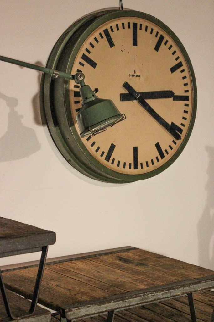 Vintage German Train Station Clock From Siemens Halske