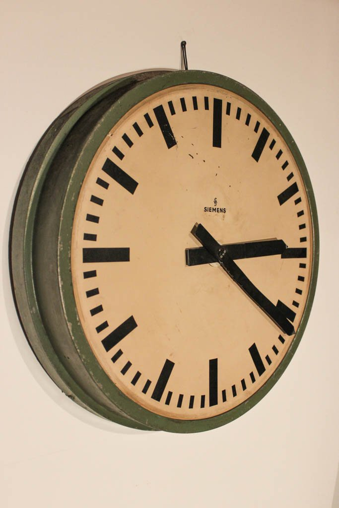 Vintage German Train Station Clock From Siemens Amp Halske