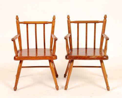 kinderst hle aus holz 2er set bei pamono kaufen. Black Bedroom Furniture Sets. Home Design Ideas