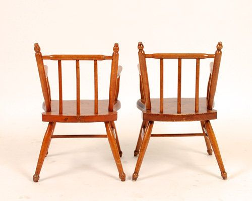 Wooden Children Chairs Set of 2 for sale at Pamono