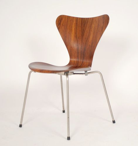 vintage model 3107 chair by arne jacobsen for fritz hansen for sale at pamono. Black Bedroom Furniture Sets. Home Design Ideas