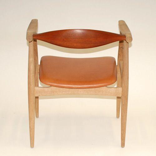vintage ch35 armchair by hans j wegner for carl hansen. Black Bedroom Furniture Sets. Home Design Ideas