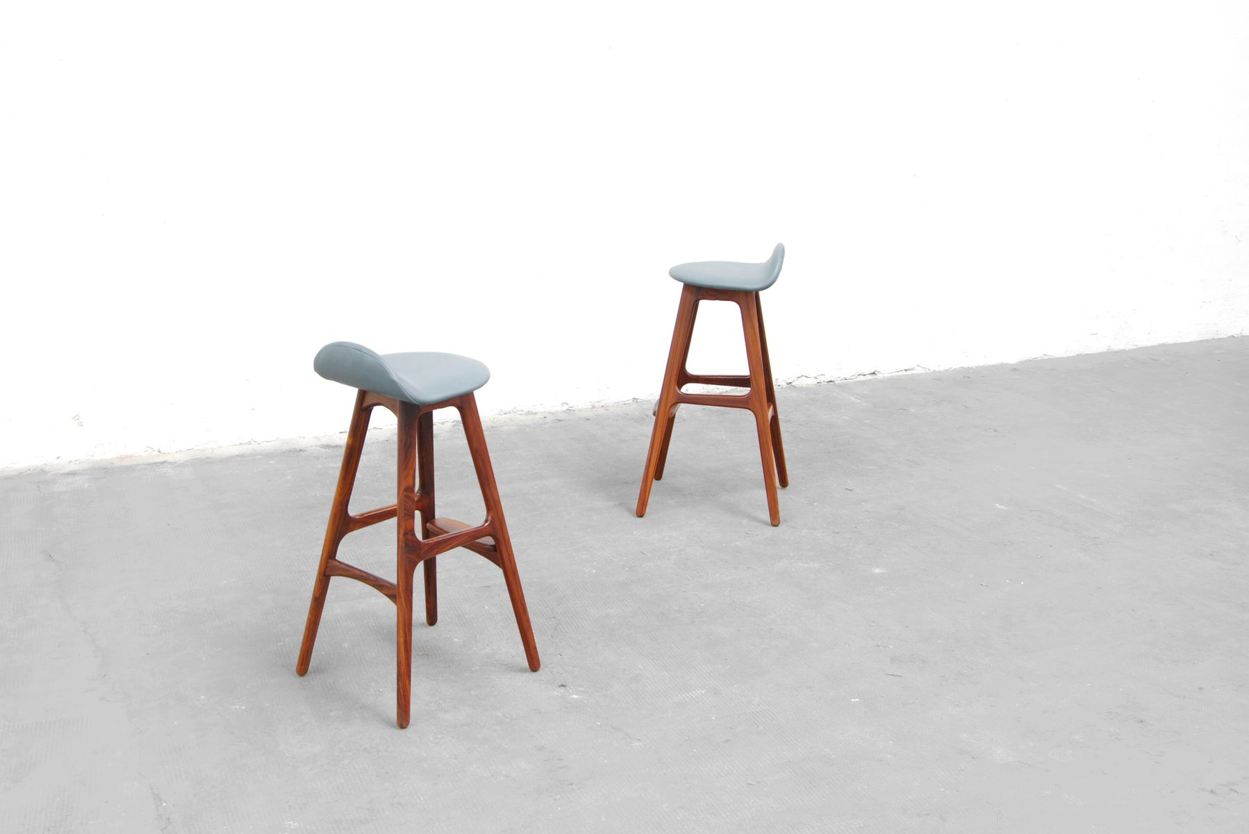 Mid Century Bar Stool By Erik Buck For Odense