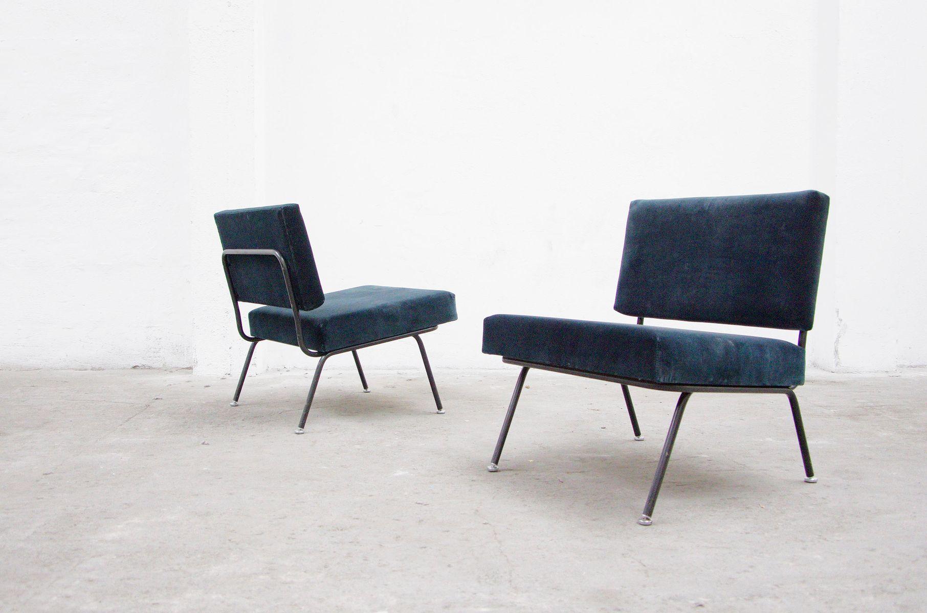 modell no 31 easy chair st hle von florence knoll f r knoll international 1956 2er set bei. Black Bedroom Furniture Sets. Home Design Ideas