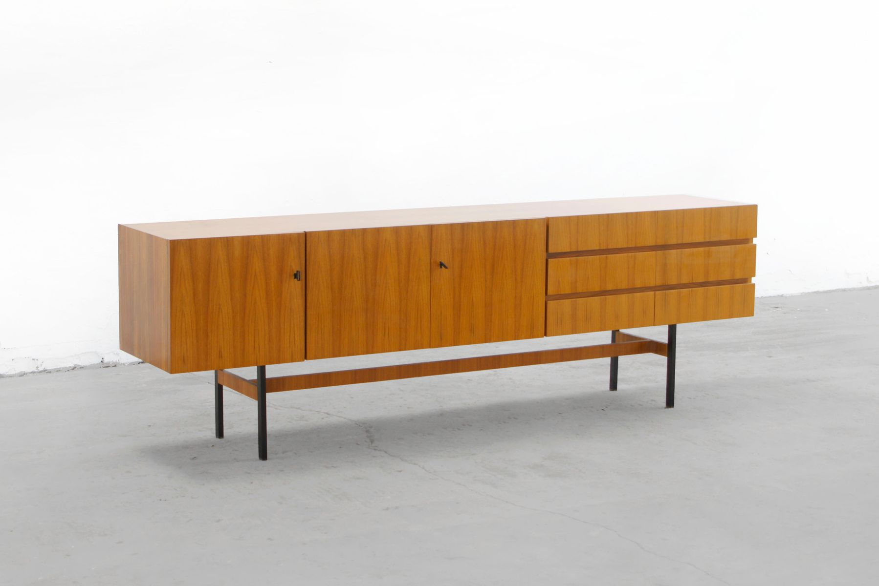 mid century walnut sideboard from musterring 1960s for sale at pamono. Black Bedroom Furniture Sets. Home Design Ideas