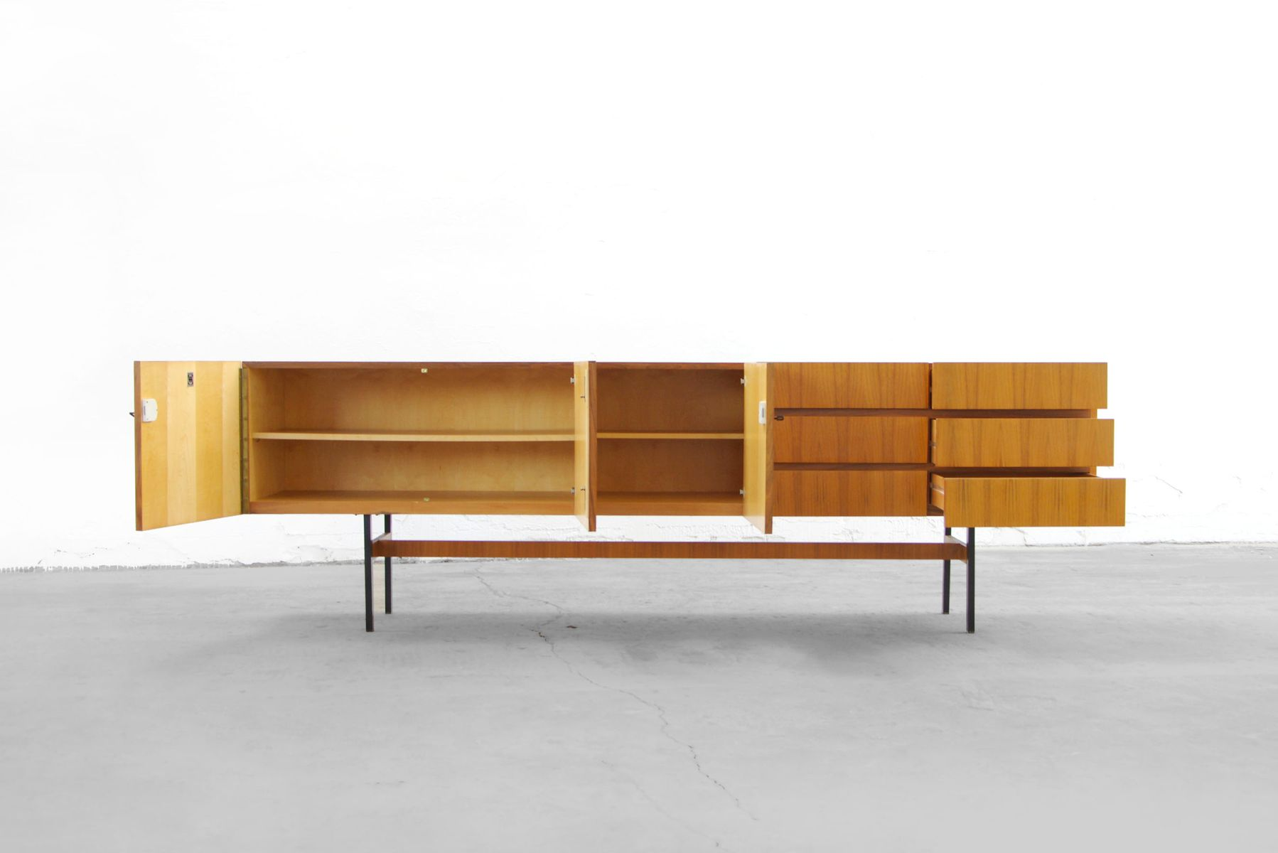 Mid century walnut sideboard from musterring 1960s for - Sideboard mid century ...