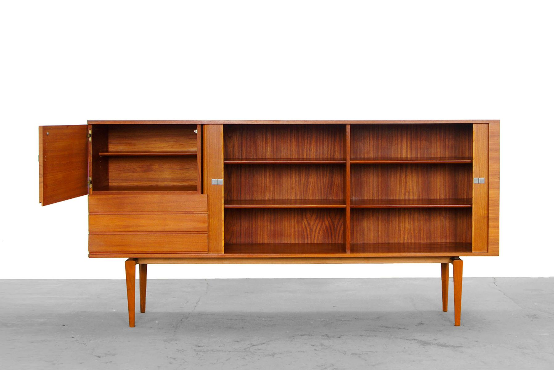 credenza highboard by h w klein for bramin 1960s for. Black Bedroom Furniture Sets. Home Design Ideas