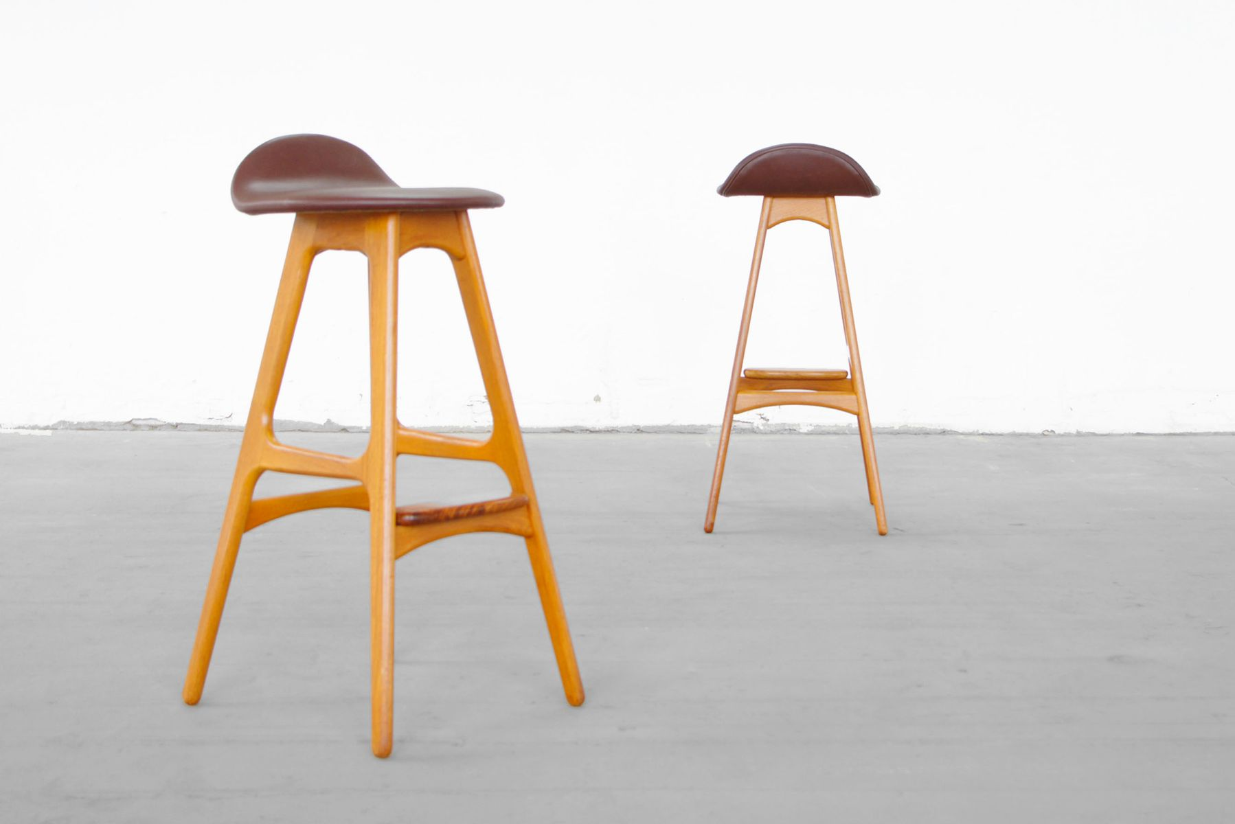 Mid Century Bar Stools By Erik Buck For Odense