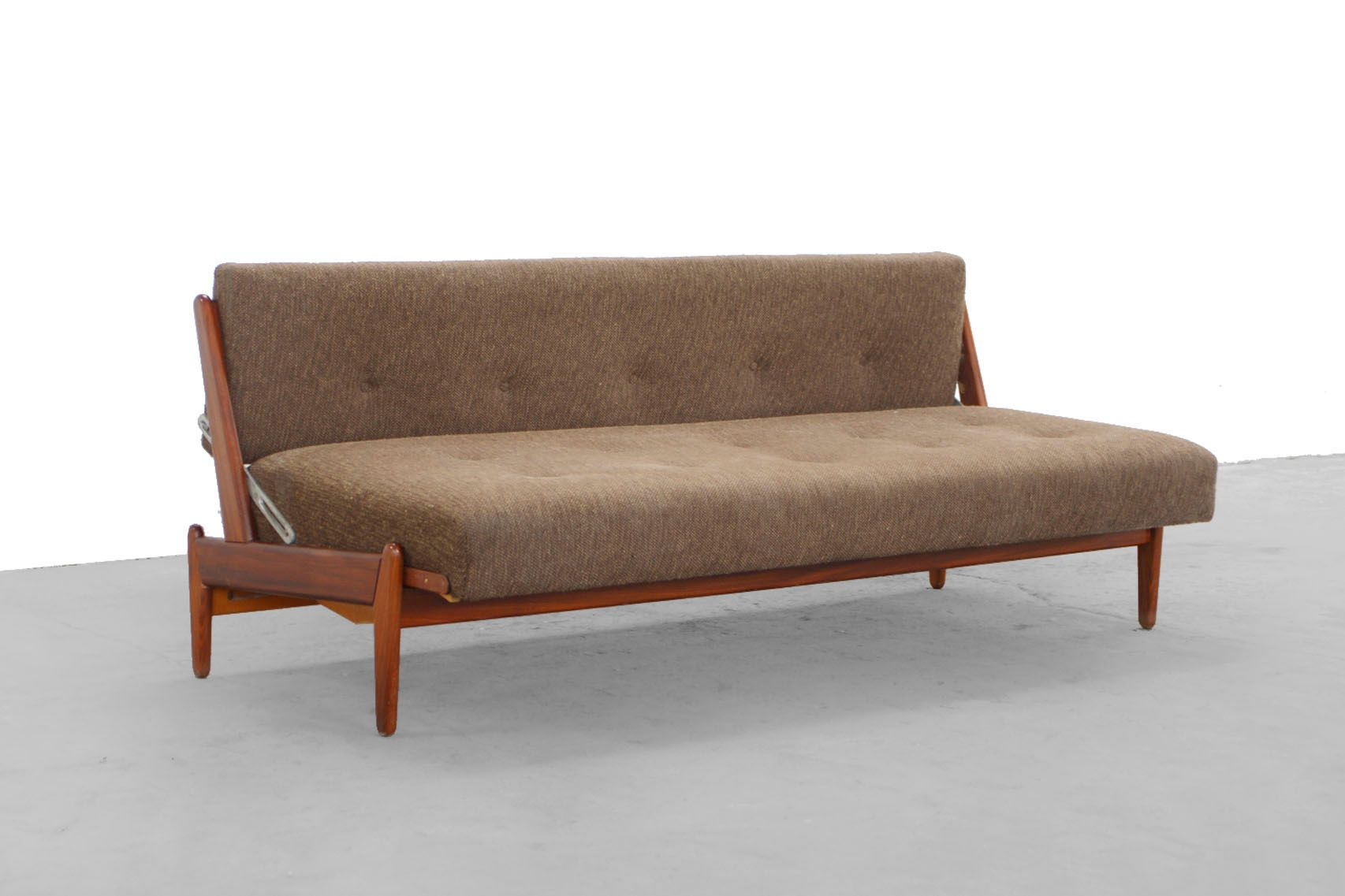 teak sofa by hans olsen f r frem rojle 1955 for sale at pamono. Black Bedroom Furniture Sets. Home Design Ideas