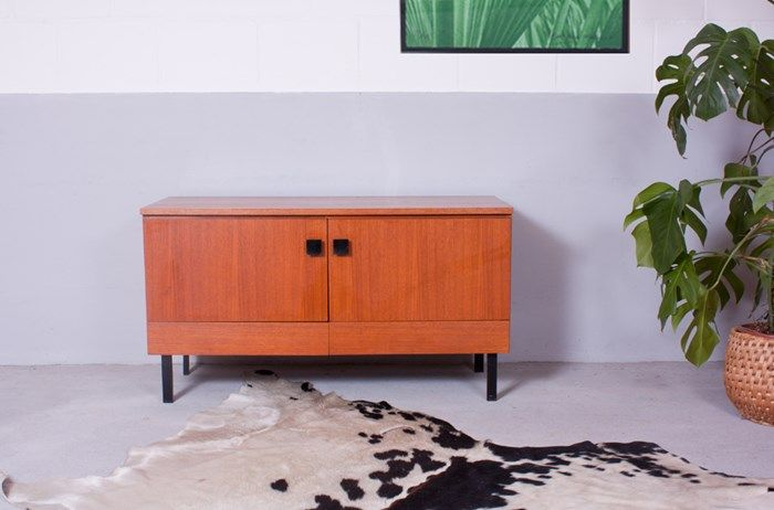 vintage wooden sideboard by pepita programm for musterring international for sale at pamono. Black Bedroom Furniture Sets. Home Design Ideas