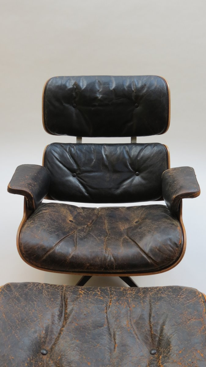 670 lounger 671 ottoman by charles and ray eames for hille 1959 for. Black Bedroom Furniture Sets. Home Design Ideas