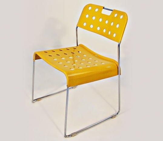 Sedia omstak gialla di rodney kinsman per bieffeplast for Sedia design gialla