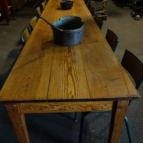 Langer Vintage Holztisch Bei Pamono Kaufen