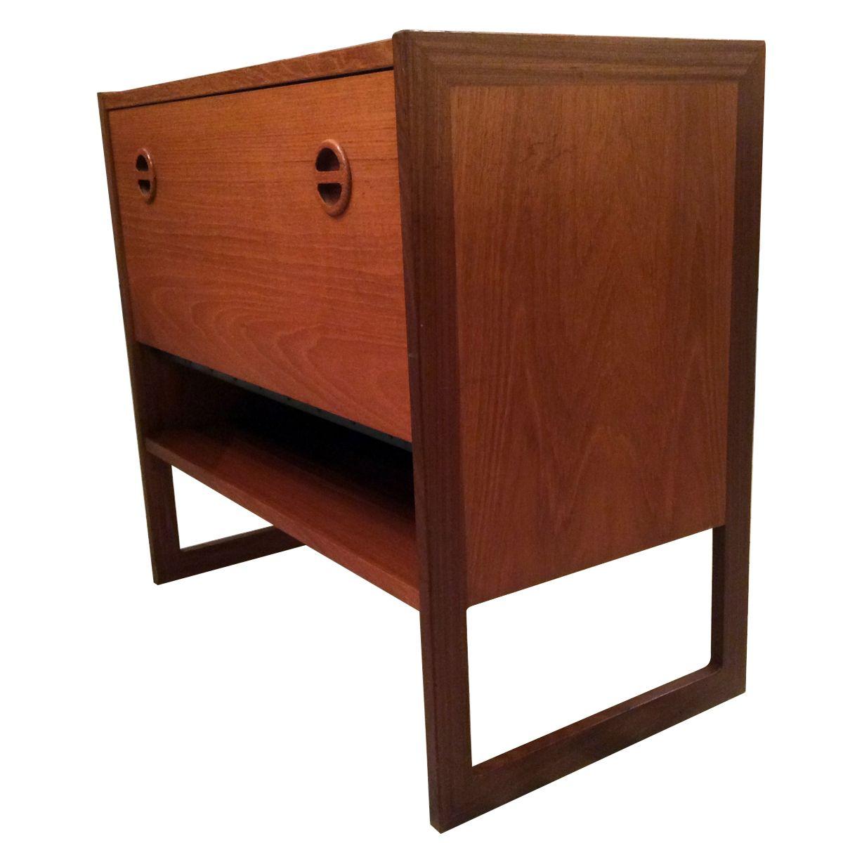 Teak Kitchen Cabinet Doors: Teak Cabinet With Flap Door, 1960s For Sale At Pamono