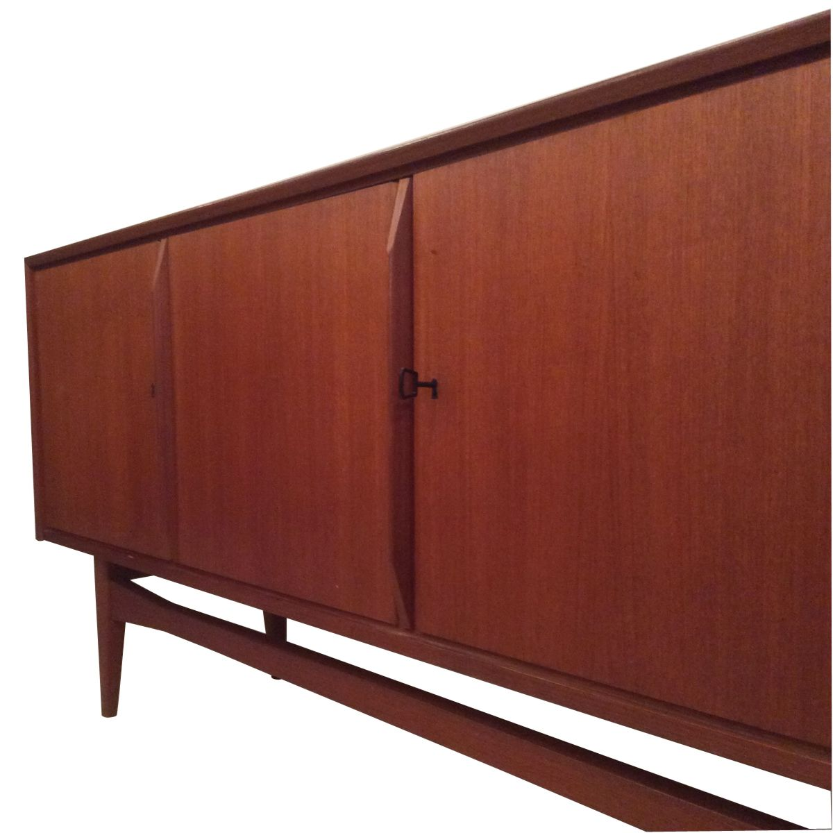 Scandinavian xl teak sideboard 1960 for sale at pamono for Sideboard scandi