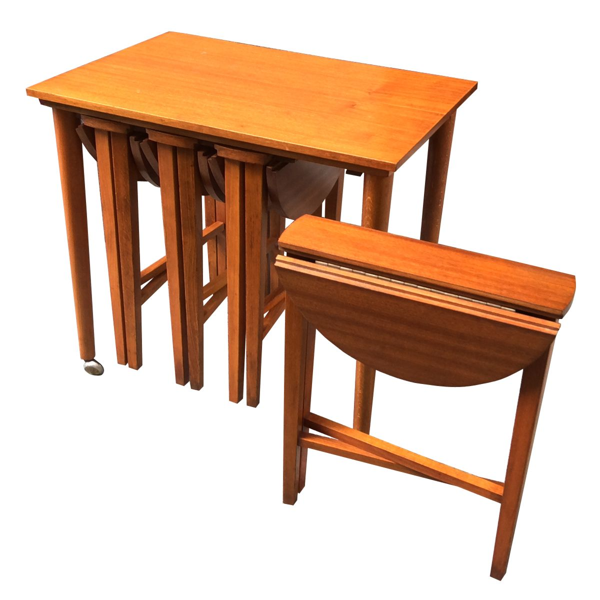 Wonderful image of Vintage Teak Nesting Tables Set of 5 for sale at Pamono with #CA7301 color and 1200x1200 pixels
