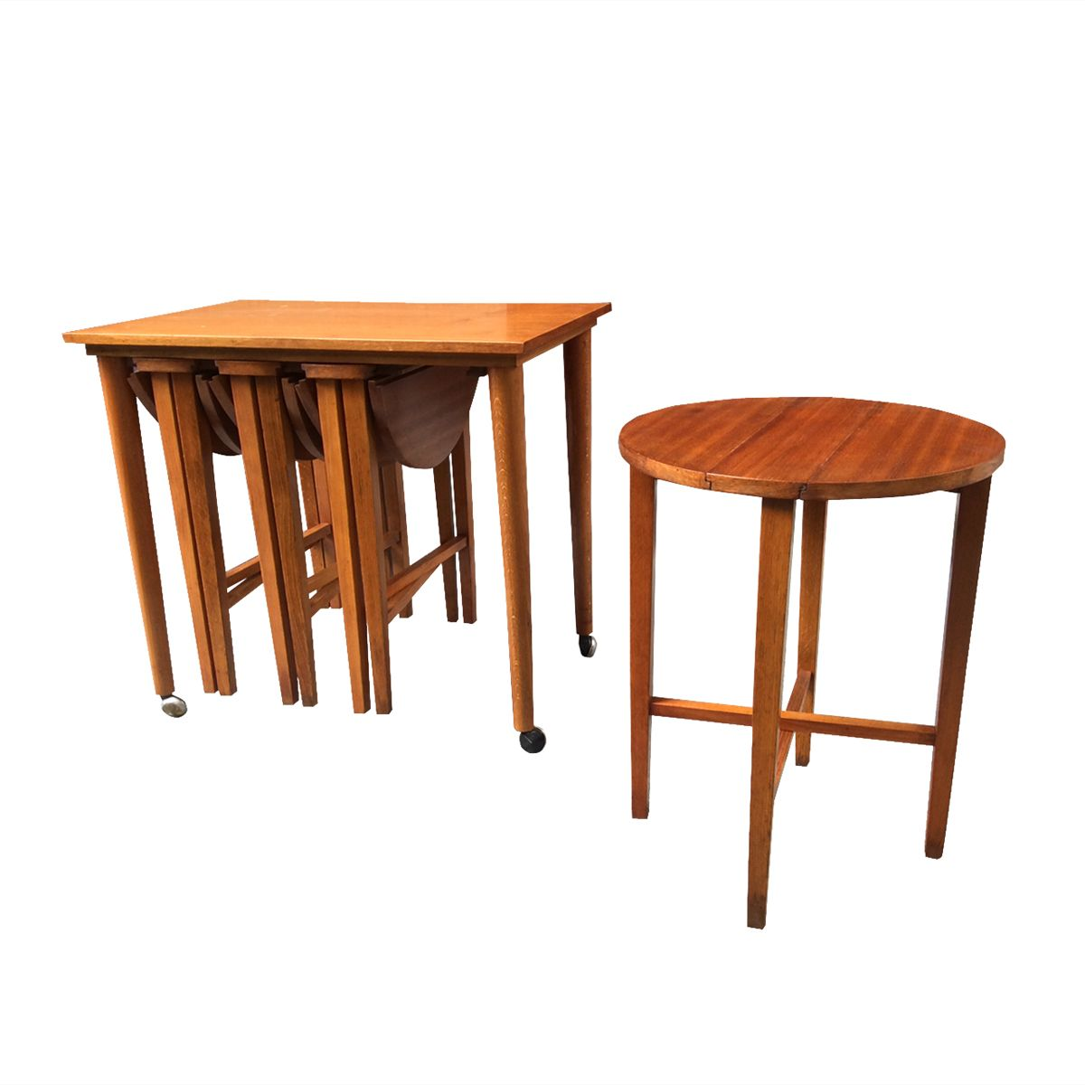 Wonderful image of Vintage Teak Nesting Tables Set of 5 for sale at Pamono with #B36118 color and 1200x1200 pixels
