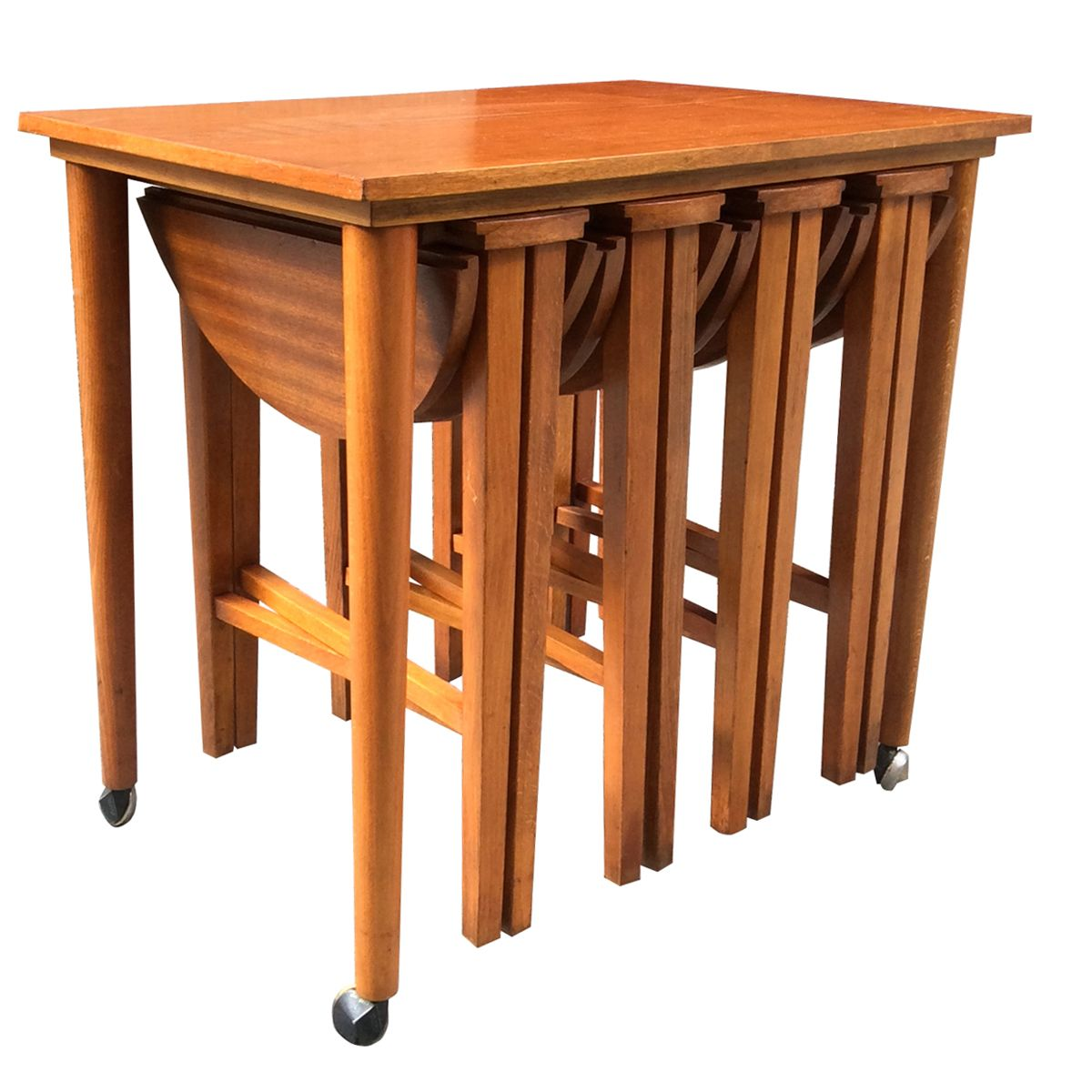Teak Nesting Tables ~ Vintage teak nesting tables set of for sale at pamono